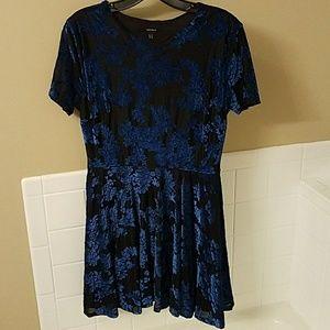 NWOT Blue Velvet Skater Dress size M